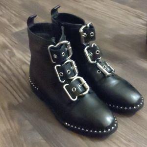 NWOT Steve Madden Punk Edgy Leather Black Boots